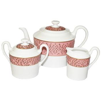 """Чайный сервиз из 3-х предметов """"Розовая Леди"""""""