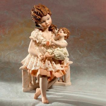 """Кукла """"Девочка Луна с маленькой сестрёнкой"""""""