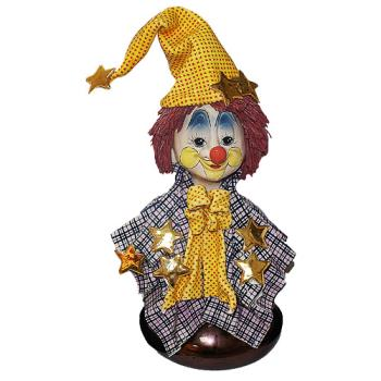 "Скульптура- бюст ""Клоун в колпаке со  звёздами"""