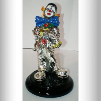 """Скульптура """"Клоун с гармошкой"""""""