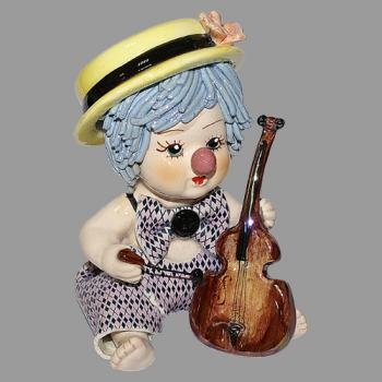 """Статуэтка """"Клоун - мальчик с виолончелью"""""""