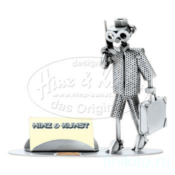 Бизнесмен - подставка д/визиток
