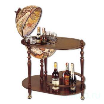 Глобус-бар на 3-х ножках со столиком
