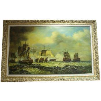 """Картина """"Античное морское сражение"""""""