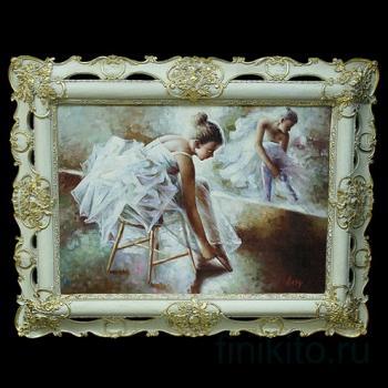 """Картина """"Балерина на стуле у зеркала"""""""
