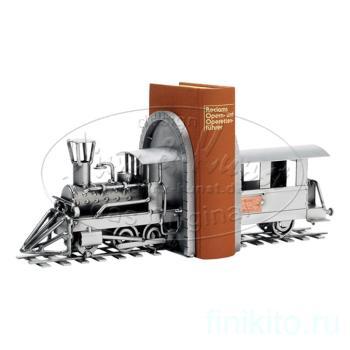 Паровоз - держатель для книг, L 32 см