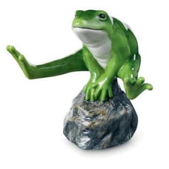 """Статуэтка """"Зеленая лягушка"""""""