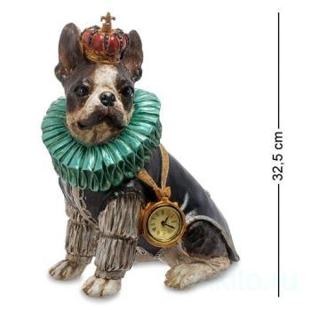 "Статуэтка с часами ""Собака Элизабет"" 904464 Noble Style"