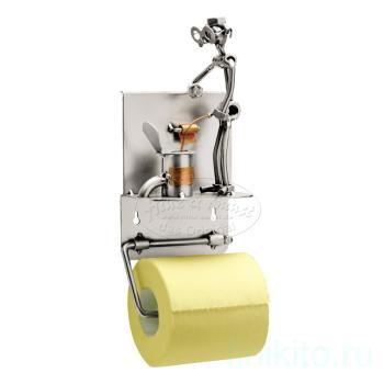 Туалет, держатель для туалетной бумаги