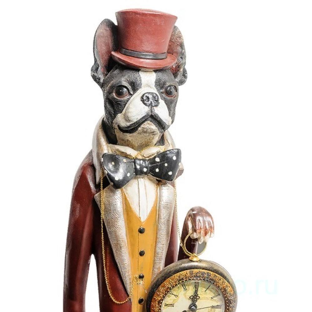 """Статуэтка с часами """"Собака Сэр Уильям"""" 904440 Noble Style"""