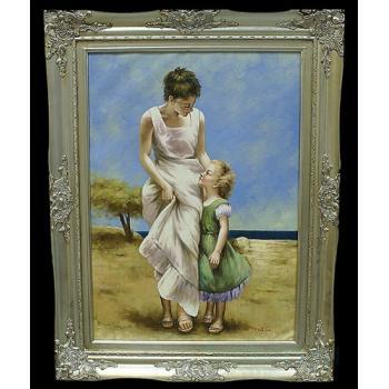 "Картина ""Мама с дочкой у моря"""