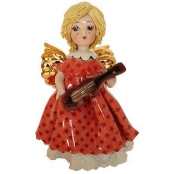 Ангел с гитарой в красном