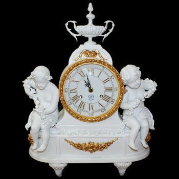 Часы белые с ангелочками