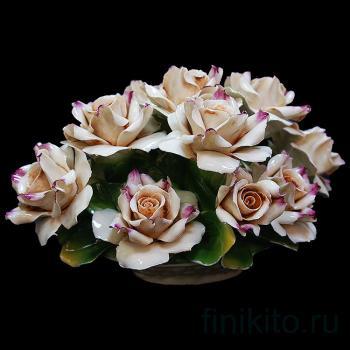 """Декоративная корзинка """"Чайные розы"""""""