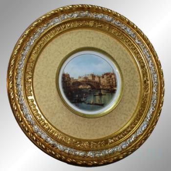 "Декоративная тарелка в рамке ""Венеция"""