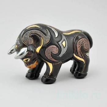Керамическая статуэтка Бык черный