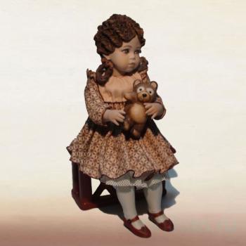 "Фарфоровая кукла ""Ombretta"""