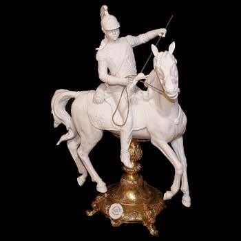 "Фарфоровая статуэтка ""Улан на коне"""