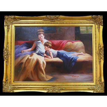 "Картина ""Мама с дочкой за чтением"""