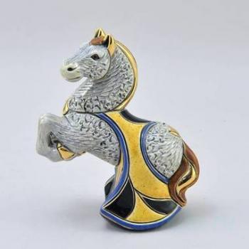Керамическая статуэтка Лошадь серая