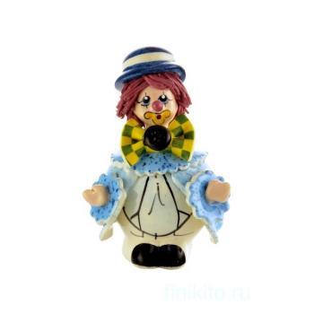 """Скульптура """"Клоун в синей шляпе"""""""