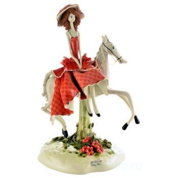 """Статуэтка """"Дама на белом коне"""""""