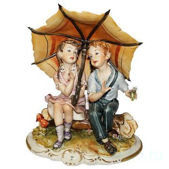 """Статуэтка """"Дети под зонтиком"""""""