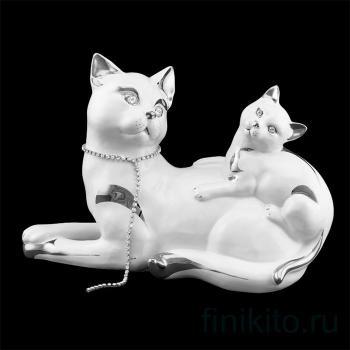 "Статуэтка ""Кошка с котенком"""