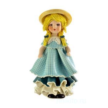 """Статуэтка """"Кукла со светлыми волосами в голубом платье"""""""