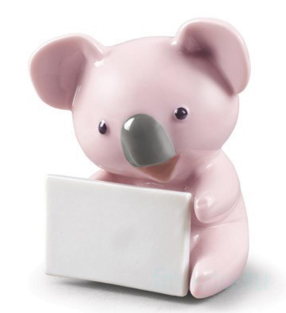 """Статуэтка NAO """"Коала с письмом (розовый)"""""""