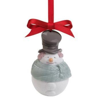 "Статуэтка NAO""Новогодний шар снеговик"""