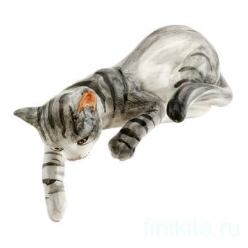 """Статуэтка """"Полосатая кошка лежащая"""""""