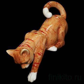 """Статуэтка """"Полосатая кошка спрыгивающая"""""""
