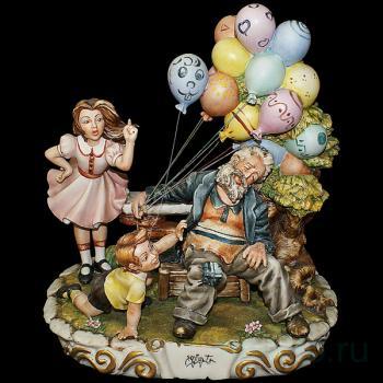 """Статуэтка """"Продавец воздушных шаров"""""""