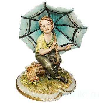 """Статуэтка """"Ребёнок под зонтиком"""""""