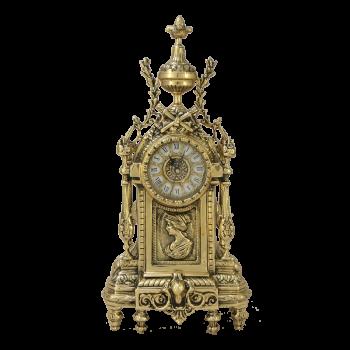 """Часы """"Дон Луи"""" c женским профилем каминные бронзовые"""