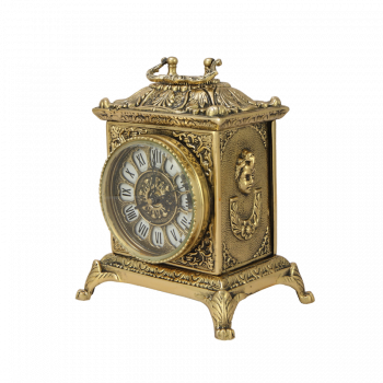 Часы Ларец каминные бронзовые