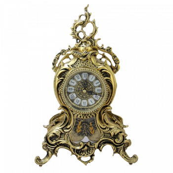 Часы Ласу каминные с маятником, золото