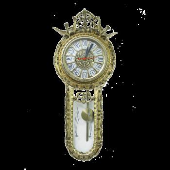 Часы настенные металлические с маятником