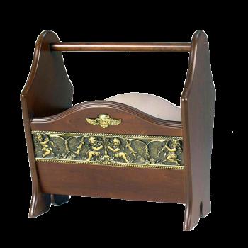 Газетница напольная деревянная