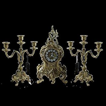 """Каминные часы с канделябрами """"Дон Луиш"""", """"антик"""""""