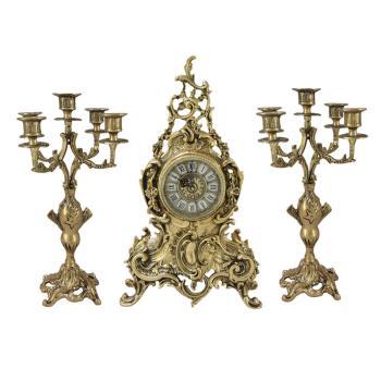 """Каминные часы с канделябрами """"Луи XV"""""""