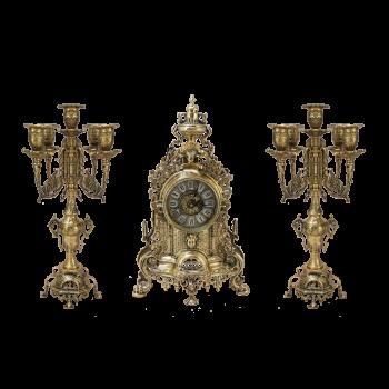 """Каминные часы с канделябрами """"Париж"""", """"золото"""""""