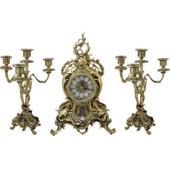 "Каминные часы с маятником  с канделябрами ""Дон Хуан Ласу"""