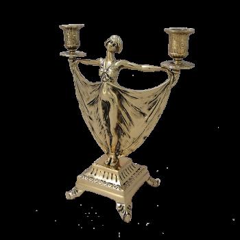 Канделябр Балерина  2-х рожковый, золото