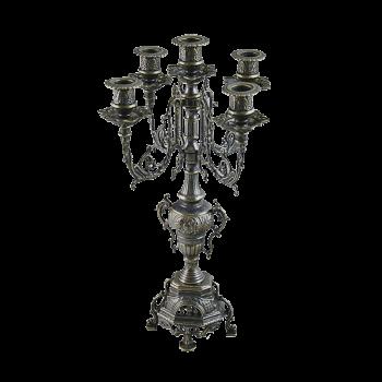 Канделябр Барокко на 5 свечей под бронзу
