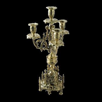 Канделябр Кафедрал 4 рожковый, золото