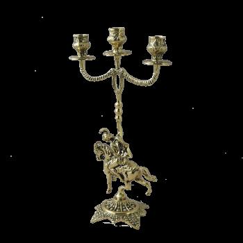 Канделябр Кавалло 3-х рожковый, золото