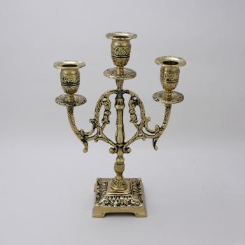 Канделябр Лира 3-х рожковый, золото