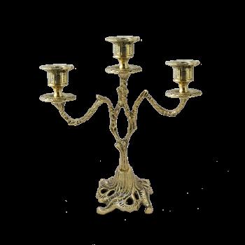 Канделябр на 3 свечи из бронзы Асти